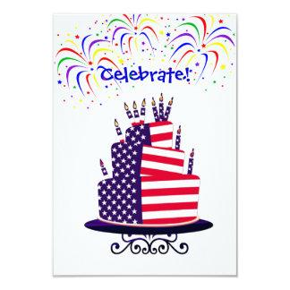 O Dia da Independência convida Convite 8.89 X 12.7cm