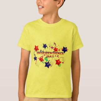 O Dia da Independência Stars o T amarelo dos T-shirt