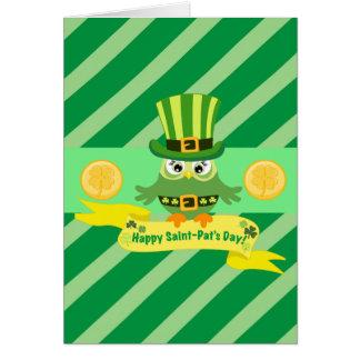 O dia da pancadinha feliz do santo cartão comemorativo