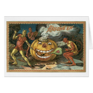O Dia das Bruxas antiquado, diabos Cartão