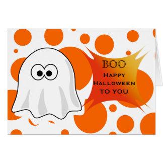O Dia das Bruxas feliz a você com o fantasma da Cartão