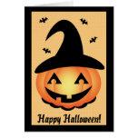 O Dia das Bruxas feliz - bruxa da abóbora Cartões