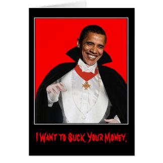 O Dia das Bruxas feliz Obama Cartoes