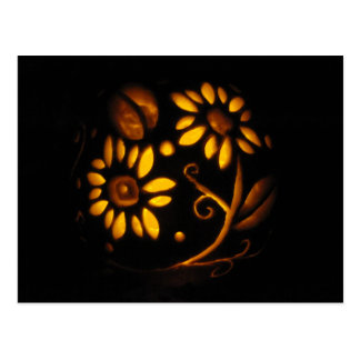 O Dia das Bruxas floresce o outono da lanterna do Cartão Postal