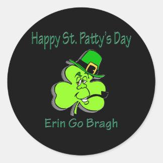 O Dia de São Patrício feliz Erin vai Bragh Adesivos Redondos