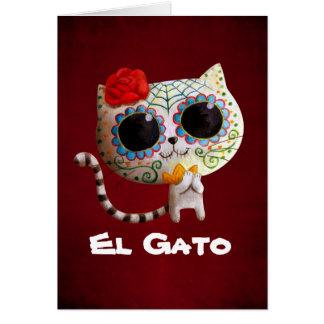 O dia do gato bonito inoperante cartão comemorativo
