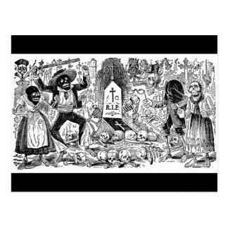 O dia do morto, México. Cerca de 1900's adiantado Cartão Postal