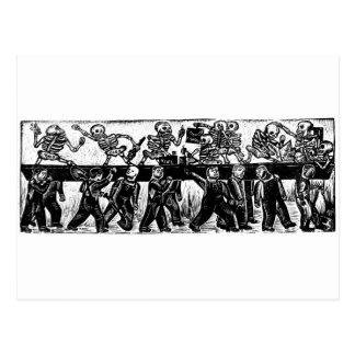 O dia do morto, México. Cerca de 1936. Cartão Postal