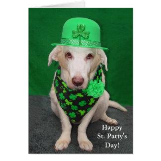 O dia do rissol engraçado do St. do cão Cartão Comemorativo