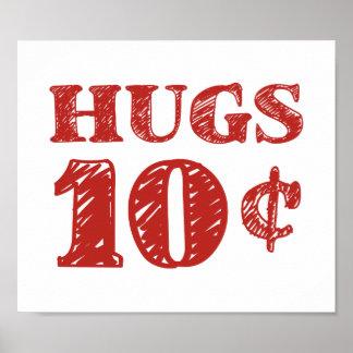 O dia dos namorados abraça 10 centavos impressão