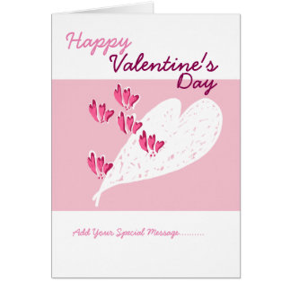 O dia dos namorados cor-de-rosa dos corações cartão comemorativo