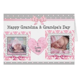 """Cartão O dia """"eu te amo"""" cartão da avó cor-de-rosa &"""