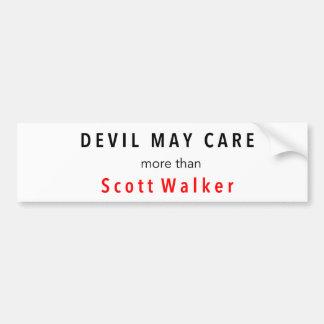 O diabo pode importar-se mais do que o caminhante adesivo para carro