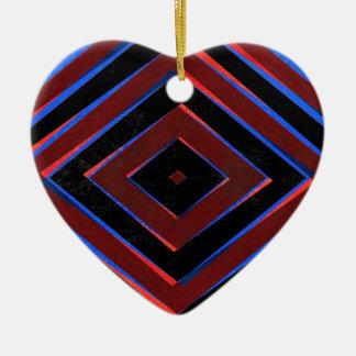 O diamante retro dá forma ao teste padrão ornamento de cerâmica