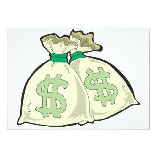 O dinheiro ensaca convites