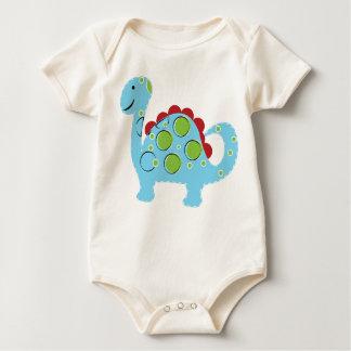 O dinossauro grande azul bonito caçoa a camisa