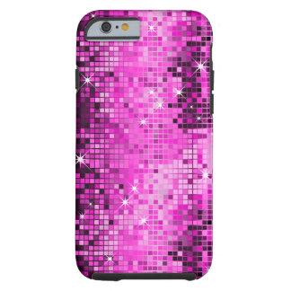 O disco cor-de-rosa metálico do olhar dos Sequins Capa Para iPhone 6 Tough