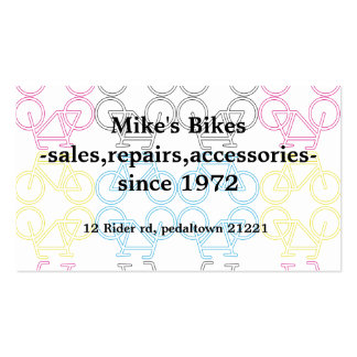 O dobro tomou partido cartão de visita da biciclet