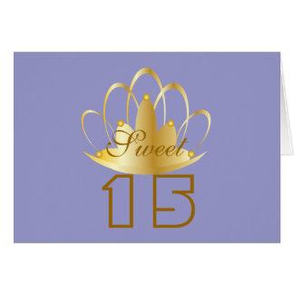 O doce 15 Personalizar-Personaliza Cartão