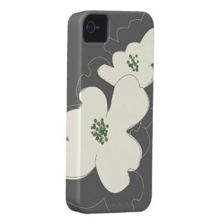 O DOGWOOD FLORESCE capas de iphone de IVORY/GRAY Capa Para iPhone 4 Case-Mate