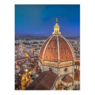 O domo em Florença, Italia Cartão Postal