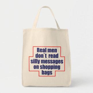 """""""O don´t real dos homens leu mensagens em sacos de Bolsa Tote"""