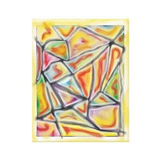 """""""O dragão abstrato escala"""" canvas do prêmio 11x14"""