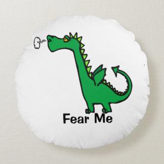 O dragão dos desenhos animados teme-me almofada redonda