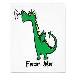 O dragão dos desenhos animados teme-me foto