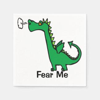 O dragão dos desenhos animados teme-me guardanapo de papel