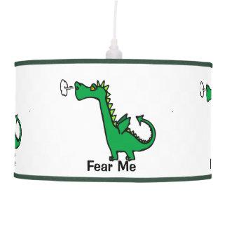 O dragão dos desenhos animados teme-me luminária de teto
