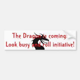 O dragão está vindo adesivo para carro