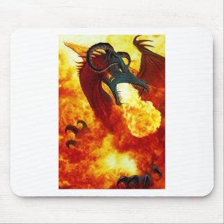 O dragão Mousepad do fogo