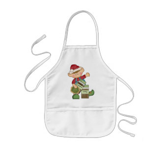 O duende do cozimento do feriado do Natal caçoa o  Avental Infantil