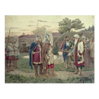 O duque grande reunião com as pessoas cartão postal