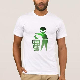 O Earthling é desperdícios (GloGreen) T-shirt