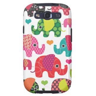 O elefante colorido caçoa o exemplo de Samsung do Capa Personalizadas Samsung Galaxy S3