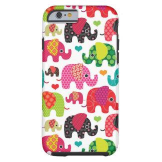 o elefante retro caçoa o papel de parede do teste capa tough para iPhone 6