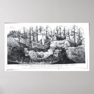 O embarque de Henry VIII em Dôvar Posters