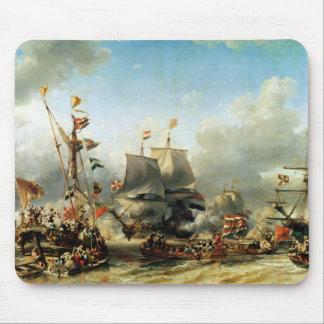 O embarque de Ruyter e de William de Witt Mouse Pad