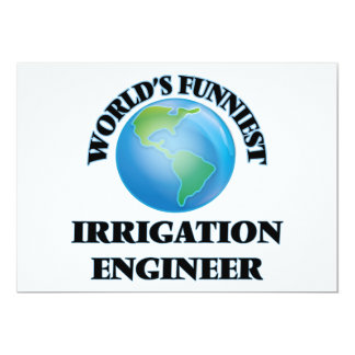 O engenheiro o mais engraçado da irrigação do convite 12.7 x 17.78cm