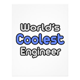 O engenheiro o mais fresco do mundo panfletos personalizados