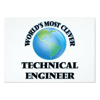 O engenheiro técnico o mais inteligente do mundo convite personalizado