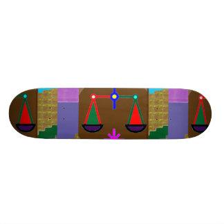 O EQUILÍBRIO ostenta o gráfico do ZODÍACO por Shape De Skate 18,1cm