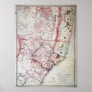 O esboço militar de Wyld de Zululand, 1879 Poster