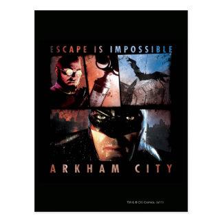 O escape da cidade de Arkham é impossível Cartão Postal