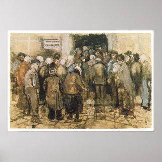 O escritório da lotaria do estado, Vincent van Gog Impressão