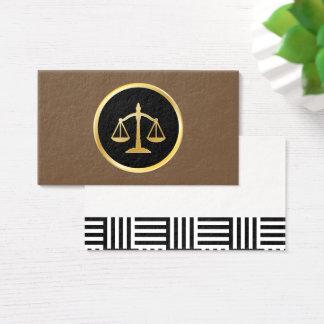 O escritório de advogados de justiça personaliza cartão de visitas