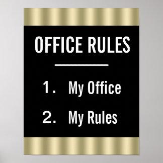 O escritório engraçado ordena o poster pôster