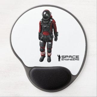 O espaço projeta o astronauta do branco de mouse pad em gel